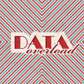 Data Overload. Retro Design Concept. — Stock Photo