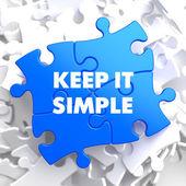 Keep It Simple Concept on Blue Puzzle. — Stok fotoğraf