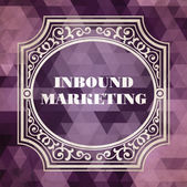 Inbound Marketing Concept. Purple Vintage design. — Stock Photo