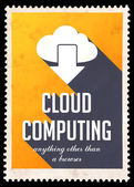 Cloud Computing on Yellow in Flat Design. — Stock Photo