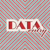 Data Entry Concept on Striped Background. — Stockfoto