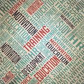 Development Background - Grunge Wordcloud Concept. — Stock Photo