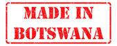 ボツワナ - 赤いゴム製スタンプの碑文で行われました。. — ストック写真