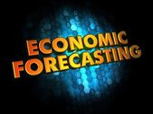 Economic Forecasting - Gold 3D Words. — Stock Photo
