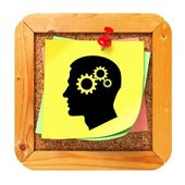 Psichologycal Concept - Sticker on Message Board. — Stockfoto