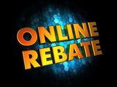 Online Rebate - Gold 3D Words. — Stock Photo