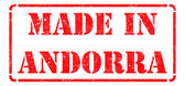Made in Andorra - inscription on Red Rubber Stamp. — Stock Photo