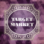 Target Market Concept. Purple Vintage design. — Stock Photo