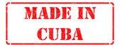 Made in Cuba - inscription on Red Rubber Stamp. — Stock Photo