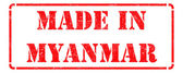 Made in Myanmar - inscription on Red Rubber Stamp. — Stock Photo