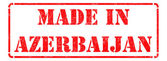 Made in Azerbaijan - inscription on Red Rubber Stamp. — Stock Photo