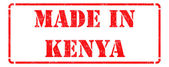 Made in Kenya - inscription on Red Rubber Stamp. — Stock Photo