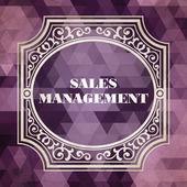 Sales Management Concept. Purple Vintage design. — Stock Photo