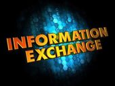 Information Exchange - Gold 3D Words. — Stock Photo