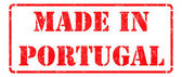 Made in  Portugal- inscription on Red Rubber Stamp. — Stock Photo