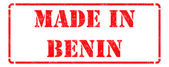 Made in Benin - inscription on Red Rubber Stamp. — Stock Photo