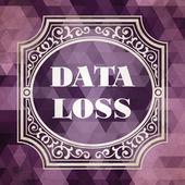 Data Loss Concept. Purple Vintage design. — Stock Photo