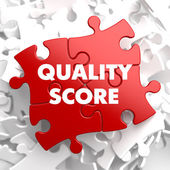 Quality Score on Red Puzzle. — Photo