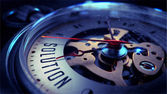 Solution on Pocket Watch Face. Time Concept. — Stock fotografie