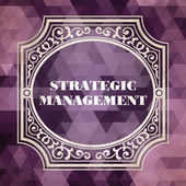 Strategic Management Concept. Vintage design. — Foto de Stock
