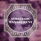 Strategic Management Concept. Vintage design. — Стоковое фото