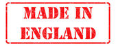 Made in England - inscription on Red Rubber Stamp. — Stock Photo