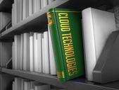 Cloud Technologies - Title of Book. Educational Concept. — Zdjęcie stockowe