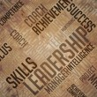 Leadership Background - Grunge Wordcloud Concept. — Stock Photo #48392743