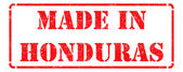 Made in Honduras - Red Rubber Stamp. — Stock Photo