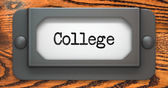 College - Concept on Label Holder. — Stock Photo
