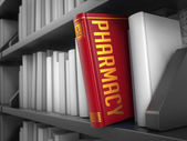 Pharmacy - Title of Red Book. — Stock Photo