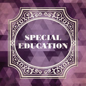 Special Education Concept. Vintage design. — Stock Photo