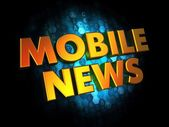 Mobil News - Gold 3D Words. — Stock Photo