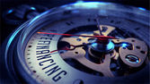 Refinancing on Pocket Watch Face. Time Concept. — Stock Photo