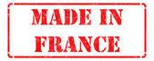 Fabricado en Francia - sello de caucho rojo. — Foto de Stock