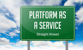 Platform as a Service on Green Highway Signpost. — Stock Photo
