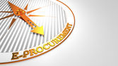 E-Procurement on White with Golden Compass. — Stock Photo