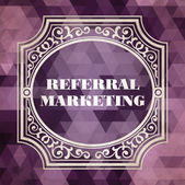 Referral Marketing Vintage Design Concept. — Stock Photo
