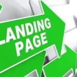 Landing Page on Green Arrow. — Stock Photo #49086085