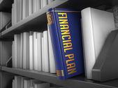 Financial Plan - Title of Book. Concept. — Stok fotoğraf