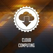 Cloud Computing on Triangle Background. — Stock Photo