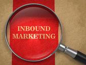 Inbound Marketing - Through Magnifying Glass — Stock Photo