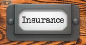 Insurance - Concept on Label Holder. — Foto Stock