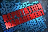 Reputation Management - Red -Blue Wordcloud. — Stock Photo