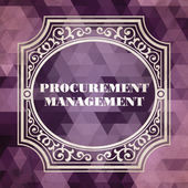 Procurement Management Concept. Vintage design. — Stock Photo