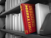 Inbound Marketing - Title of Book. — Stock Photo