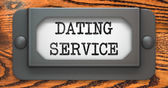 Dating Service - Concept on Label Holder. — Stock Photo