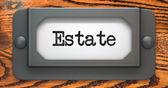 Estate - Concept on Label Holder. — Stock Photo