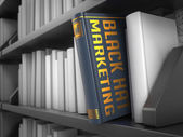 Black Hat Marketing - Title of Book. — Stock Photo