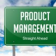 Product Management on Green Highway Signpost. — Stock Photo #50481713